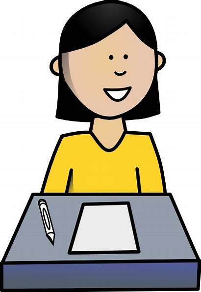 Student Female Clip Clipart Royalty Cliparts Clker