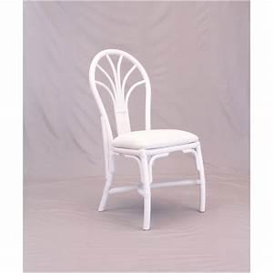 Chaise En Rotin : chaise en rotin coloris blanc et forme arrondie ~ Preciouscoupons.com Idées de Décoration