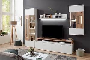 Möbel As Wohnwand : ideal m bel wohnwand falan wei eiche artisan m bel letz ihr online shop ~ Watch28wear.com Haus und Dekorationen