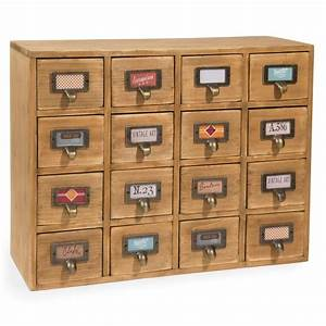 Casier A Tiroir : casier 16 tiroirs en bois h 35 cm st maximin maisons du monde ~ Teatrodelosmanantiales.com Idées de Décoration