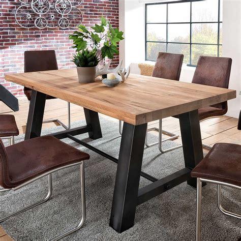 Tische Esstische by Esstisch Laval 200x100 Cm In Eiche Massiv Metall