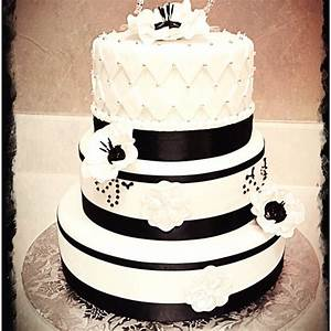 Black and White 75th birthday cake | Cakes by .... ME ...