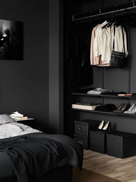 wanfarben ideen schwarze wandfarbe schlafzimmer