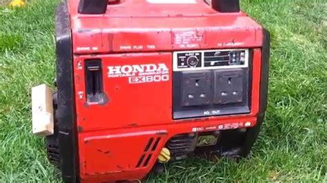 Honda Ex800 Portable Generator Start Up And Run