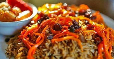 Qabuli Pulao (rice Pilaf With Meat, Raisin & Carrots