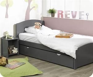 lit enfant nature gris anthracite 90x200 cm With tapis yoga avec canape lit pour enfant