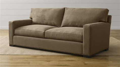 what is a sofa axis ii 2 seater brown microfiber sofa crate and barrel