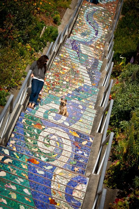 16th Avenue Tiled Steps Project by Lola At 16th Ave Tiled Steps Project Je T Aime Frenchie