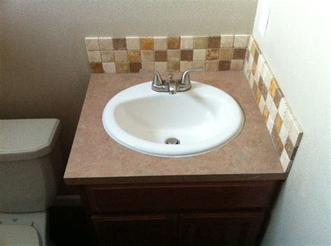 Bathroom Vanity, Sink And Tile Backsplash Installation-yelp