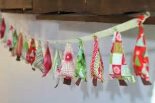 decorating ideas lovely inspiring colorful handmade fabric christmas tree garland by caroline