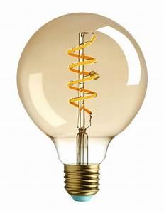 Ampoule Led Design : ampoule led filaments e27 whirly wyatt 4w 15w 140 lumen dor 140 lumen plumen made ~ Melissatoandfro.com Idées de Décoration