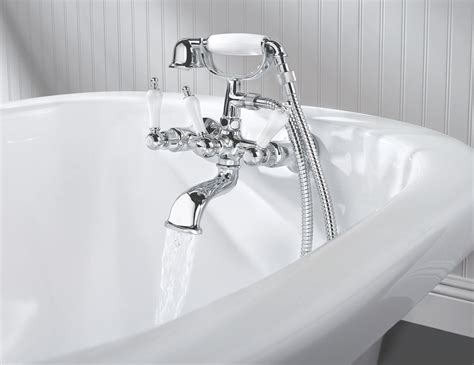 Bathtub Faucet When by Pfister Chrome 3 Handle 3 3 8 Clawfoot Tub Faucet