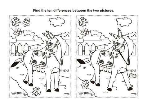 Find The Difference Printable Horse Game Passatemps