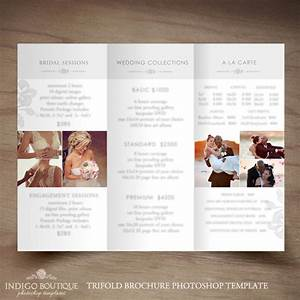 wedding photography trifold brochure template client With wedding photography brochure