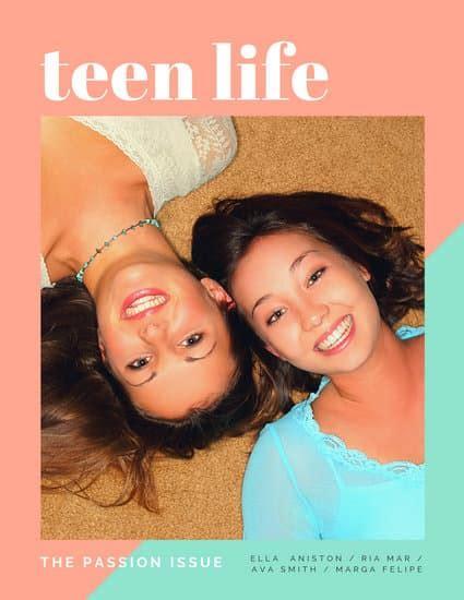 customize  teen magazine cover templates  canva