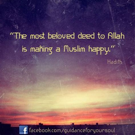 beloved deed  allah  making  muslim happy