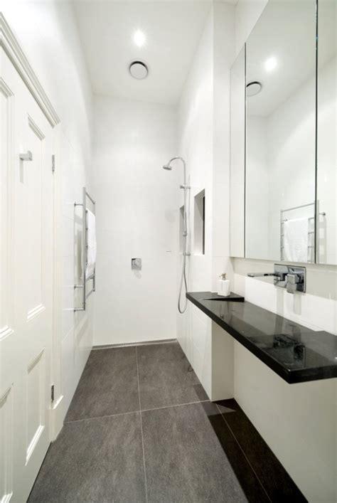 modern small bathroom  grasscloth wallpaper
