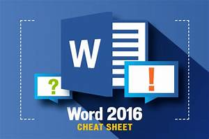 Word 2016 Cheat Sheet
