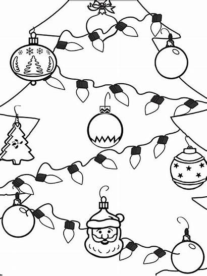 Coloring Christmas Ornament Ornaments Holiday Pages Tree