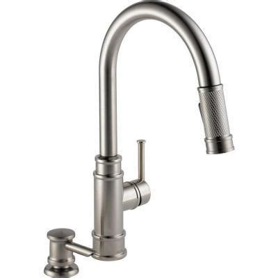delta lewiston 1 handle pull out chrome kitchen faucet