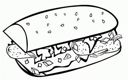 Coloring Breakfast Fast Junk Sheets Unhealthy Clipart