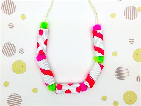 diy jewelry  summer style painted pasta necklace skip   lou
