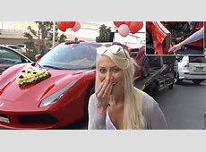 Supercar Blondie Gets Ferrari Filled With 1,000 Roses From