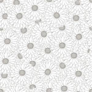 Seamless Pattern. Black And White Daisy. Stock Vector ...