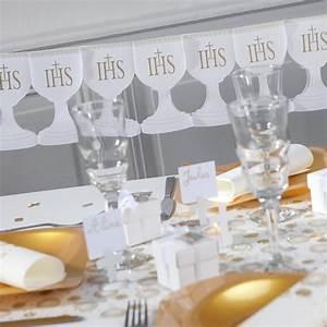 Deco De Table Communion : guirlande de communion blanc or ~ Melissatoandfro.com Idées de Décoration