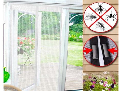 magic curtain door mesh magnetic free fly mosquito