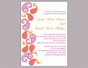diy bollywood wedding invitation template editable word With do it yourself wedding invitations templates indian