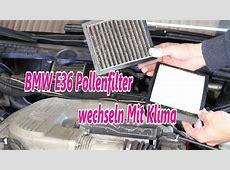 BMW E36 Pollenfilter wechseln Mit Klima YouTube