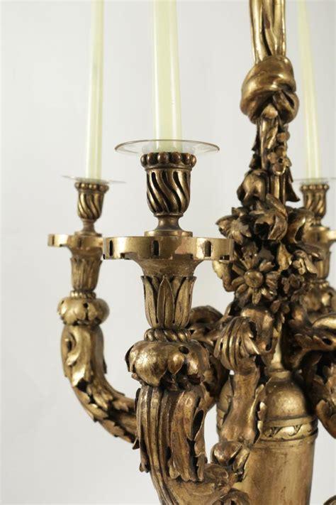 eclairage a la bougie lustre en bois sculpt 233 et dor 233 du xix 232 me si 232 cle pour l utilisation de l 233 clairage 224 la bougie