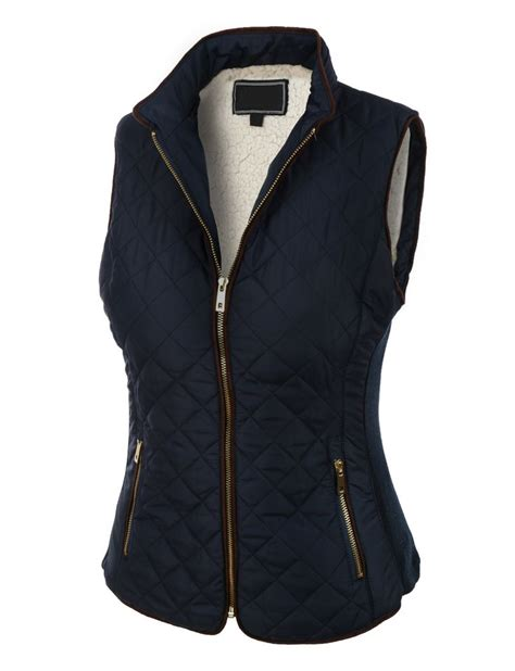 womens quilted vest womens lightweight quilted puffer jacket vest with pockets