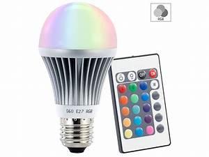 Led Farbwechsel Lampe Mit Fernbedienung : luminea farbwechselnde led lampe rgb led mit fernbedienung e27 ~ Buech-reservation.com Haus und Dekorationen