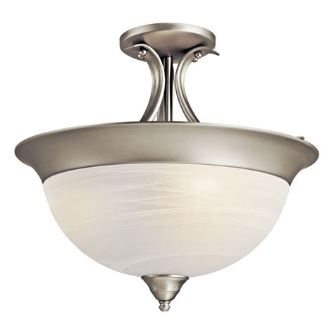 kichler 3623ni dover 3 light semi flush indoor ceiling fixture