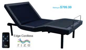 rize adjustable beds it s about sleep mattresses more