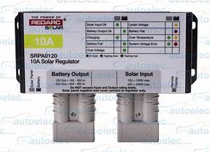 Redarc 10 Amp 10a Solar Panel Charge Regulator Controller