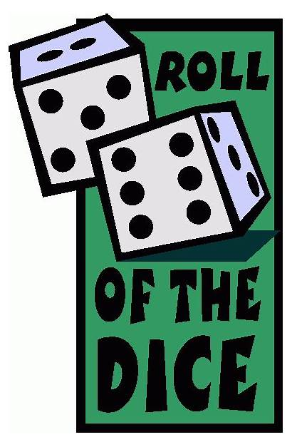Dice Clipart Clip Roll Rolling Cliparts Animation