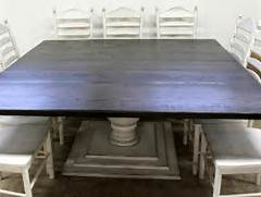 Farmhouse Dining Room Table Seats 12 by Barn Wood Large Square Farmhouse Table With Tiered Base