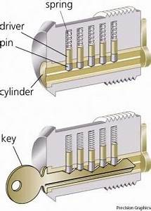 The Inner Workings Of A Door Pin Tumbler Style Lock