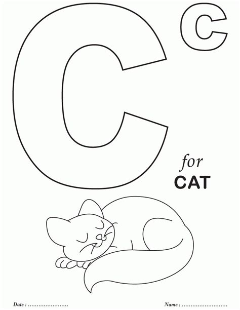 Coloring Alphabet by Preschool Coloring Pages Alphabet Coloring Home