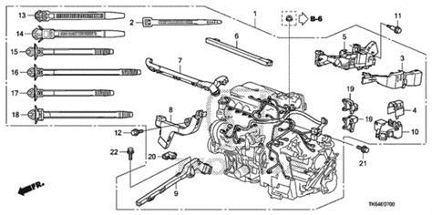 Honda Fit Diagram by Discount Genuine Oem Honda Holder A Engine Harness Lower