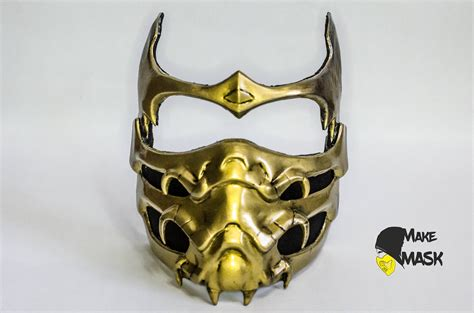Mortal Kombat Scorpion Mask For Cosplay Color Leds