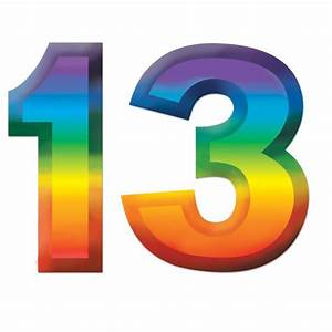 """Plastic Number """"13"""" Decoration - 11"""" - Party Packs"""