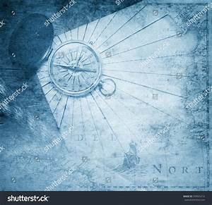 Vintage Compass Nautical Map Background Stock Photo ...