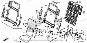 Honda Side By Side 2018 Oem Parts Diagram For Rear Seat