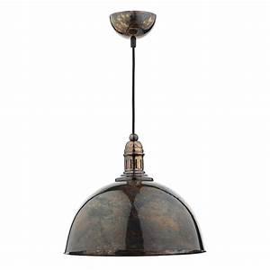 Yoko mottled bronze light pendant