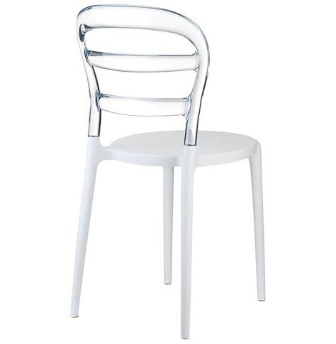 chaise en verre transparente chaise design baro blanche transparente en polycarbonate