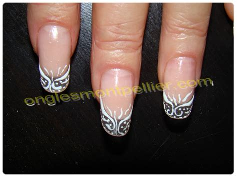 deco faux ongles photos ongle en gel deco blanche